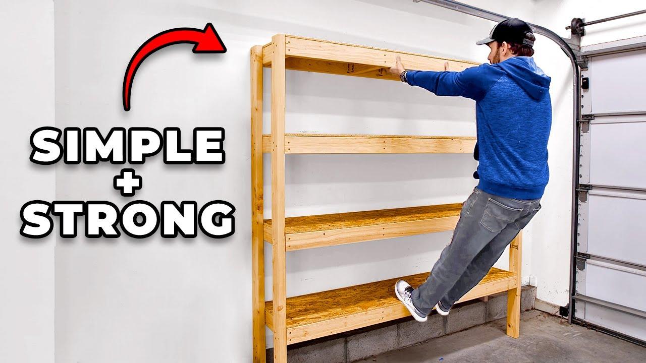 Download Super Efficient 2x4 Garage Shelves | DIY Garage Storage