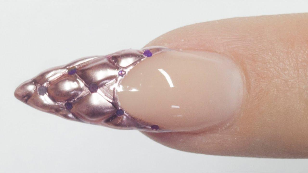 Capitonnétufted 3d Nails Tutorial Youtube
