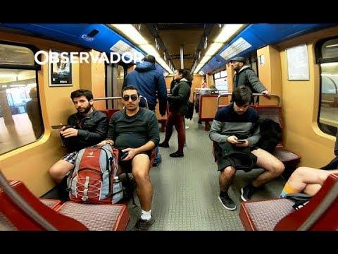 Uma viagem sem calças. Lisboa voltou a ficar de cuecas no metro