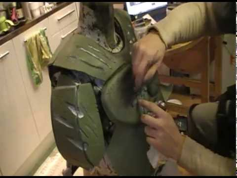 How To Make Armor Damage On The Doom Guy Costume Tutorial Youtube