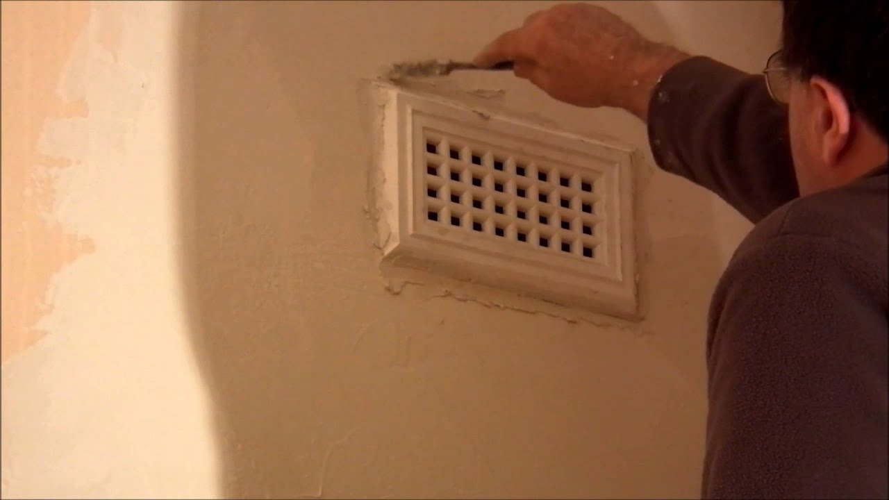 Plastering Sticking Wall Vents On And Strapping Repairs