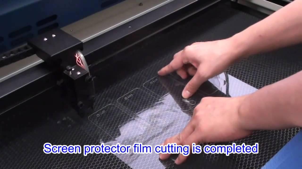 Gcc Laserpro Thin Film Cutting Using Co2 Laser Youtube