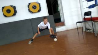 Backhand and Four-hand practice. Indoor
