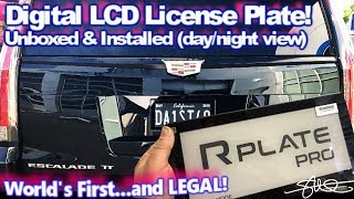 World's First Digital License Plate - The R-Plate Pro Unboxed/Installed 2015 Cadillac Escalade