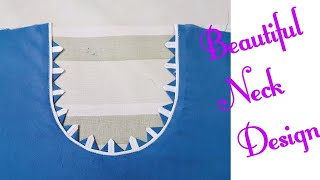Beautiful and creative neck design cutting and stitching