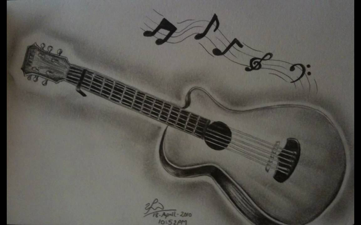 Guitar Pencil drawing  YouTube