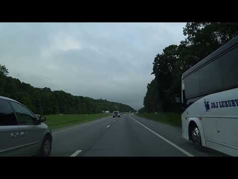 Driving on I-87 from New Paltz to Newburgh,New York