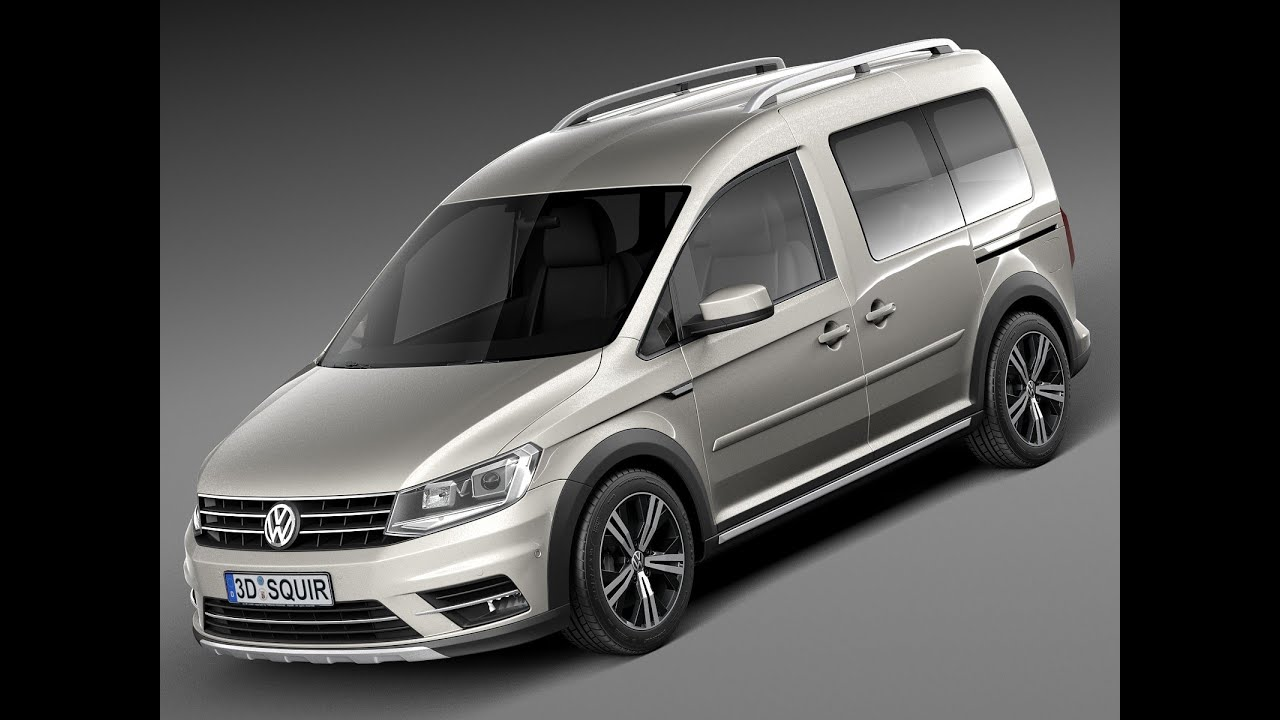 3d model volkswagen caddy alltrack 2016 youtube. Black Bedroom Furniture Sets. Home Design Ideas