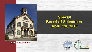 Board of Selectmen 4/5/18