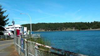 Time Lapse Long Harbour Ferry QUEEN OF NANAIMO Salt Spring Island British Columbia Canada