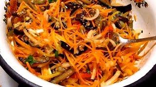 Как приготовить баклажаны по-корейски