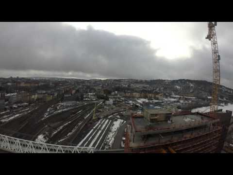Time lapse of Barcode Project, Oslo, Norway