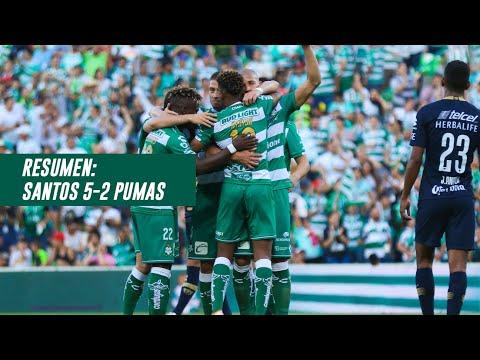 Resumen   Santos Laguna 5 - 2 Pumas UNAM   Liga MX - Clausura 2019  - Jornada 17