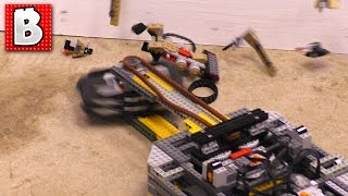 Awesome Lego Battlebot Destroys Lego Sets Round 2 ! Ultimate Lego Destruction !!!