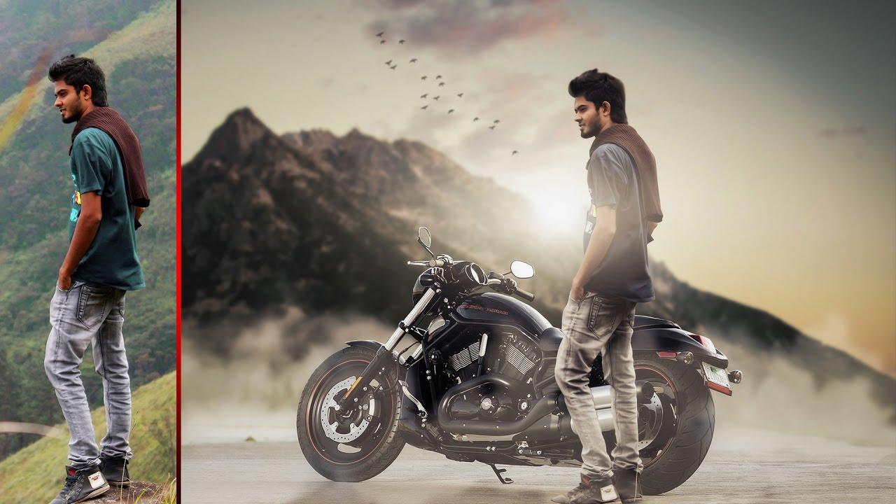 Fantasy Bike Photo Manipulation with Soft Light Effect ...