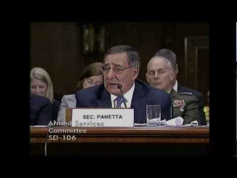 Panetta at Senate Armed Services Committee Session on March 7, 2012