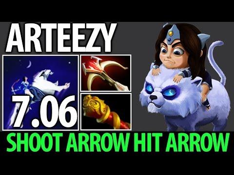 Shoot Arrow Hit Arrow! Mirana 7.06 Physical Meta by Arteezy Dota 2 MMR Gameplay