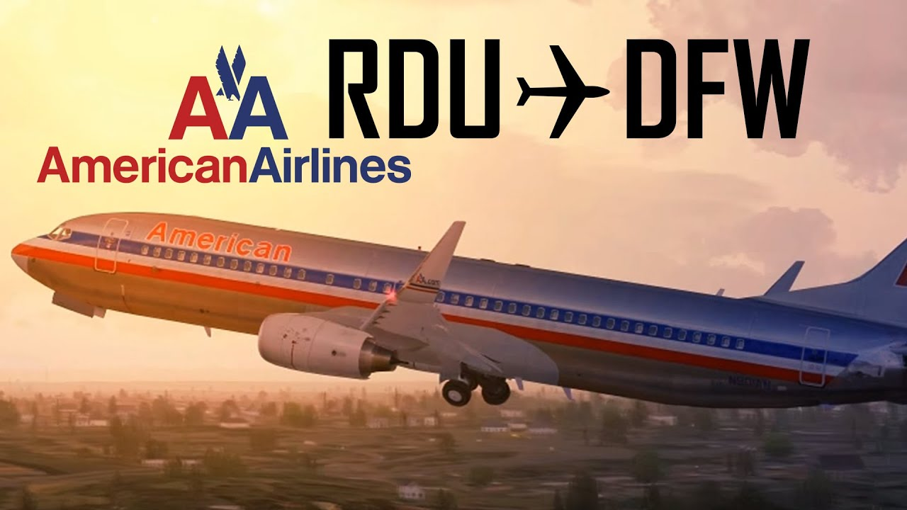 Fsx American Airlines Raleigh Durham To Dallas Youtube