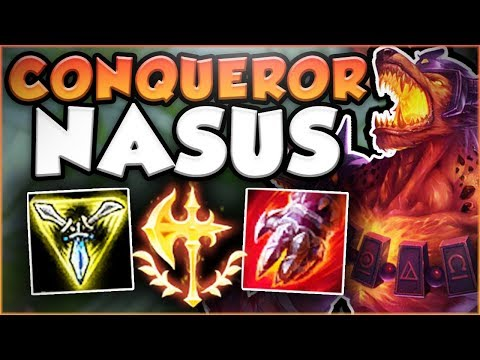 UMM RIOT?? ONE NASUS Q DID HOW MUCH DAMAGE? CONQUEROR NASUS SEASON 8 TOP GAMEPLAY! League of Legends