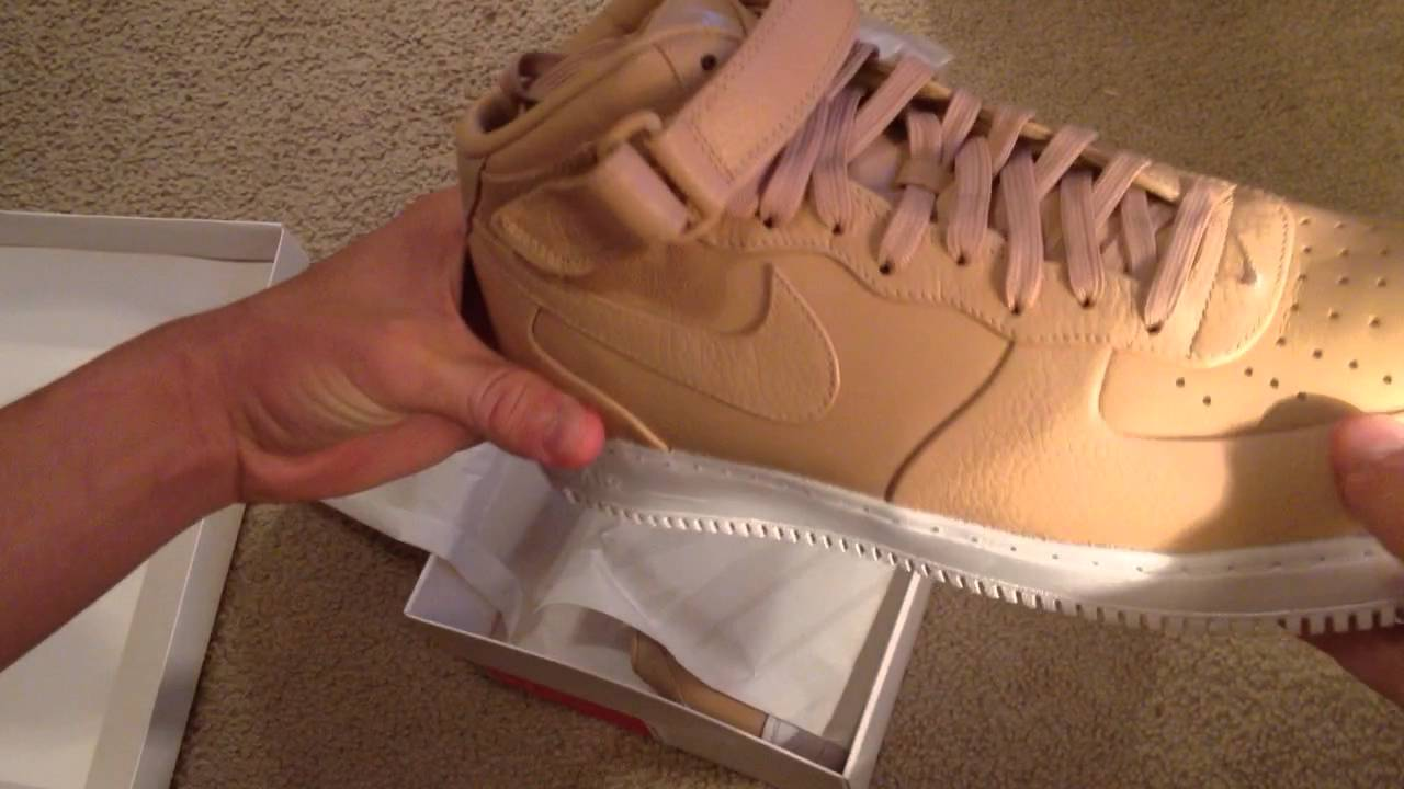 c714cba36845 Unboxing! Nikelab Air Force One AF1 Mid Vachetta Tan - YouTube