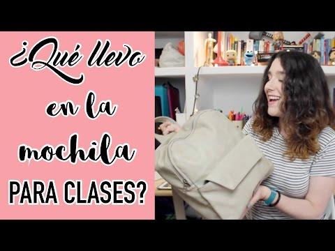 ¿Qué llevo en la mochila para ir a hacer clases? | Christine Hug