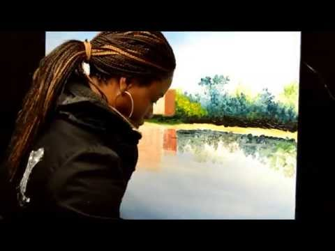 Brownsea Castle Canvas Wall Art- Painting Demo