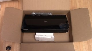 Unboxing Samsung 3D BluRay Player BD H6500