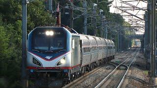 High Speed Amtrak Trains At Mansfield!! 5.29.17