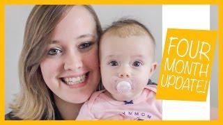 4 MONTH UPDATE + Schedules & Breastfeeding! | Aerilee