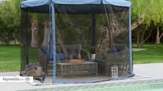 coral coast 11 ft steel offset patio