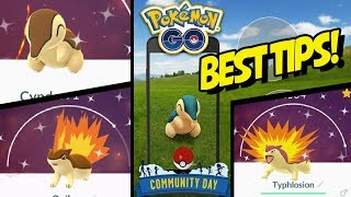 BEST TIPS for SHINY CYNDAQUIL COMMUNITY DAY in POKEMON GO!