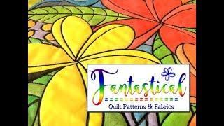 Plumeria Portal - Fantastical Quilts