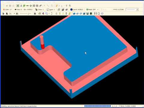 SURFCAM Tutorial - 2-Axis: Milling Open Features - 2-Axis Pocket