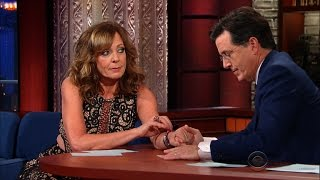 "Allison Janney and Stephen Are ""Hot Blooded"""