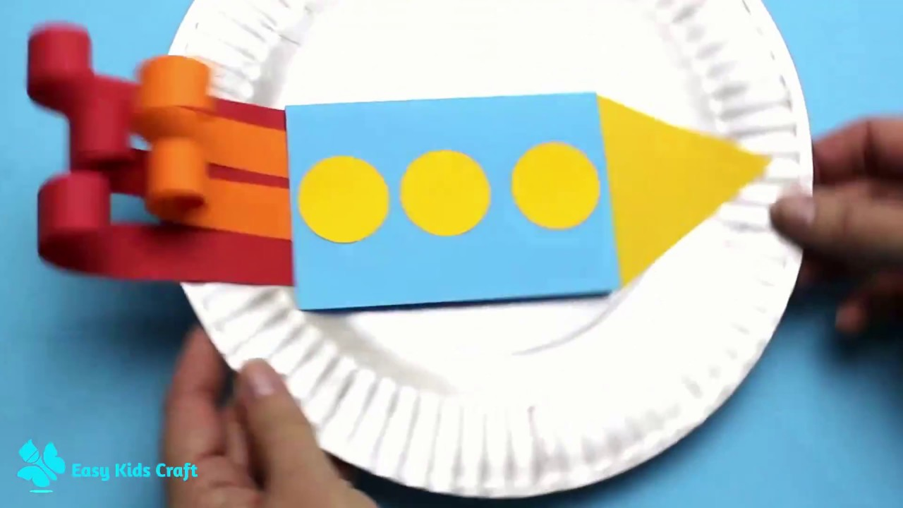 Rocket And Moon Fathers Day Card Idea Paper Plate Crafts Youtube