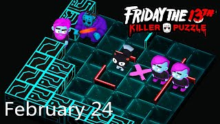 Friday the 13th: Killer Puzzle - Daily Death February 24 Walkthough (iOS, Android)