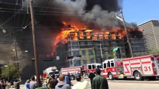 Massive Houston Apt Fire