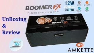 Unboxing and review Amkette TrueBeats BoomerFX | Best budget Wireless/Bluetooth speaker