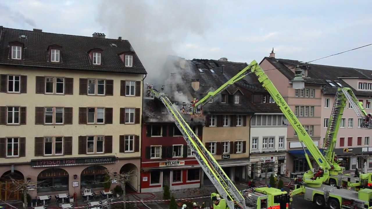 Grossbrand am Neumarkt Winterthur - YouTube