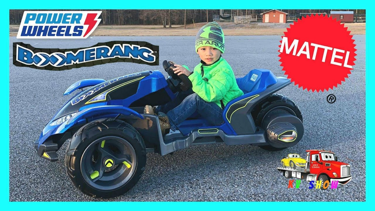 18e20a74ec12e Unboxing Assembling The Power Wheels BOOMERANG 12 Volt Ride On From Mattel