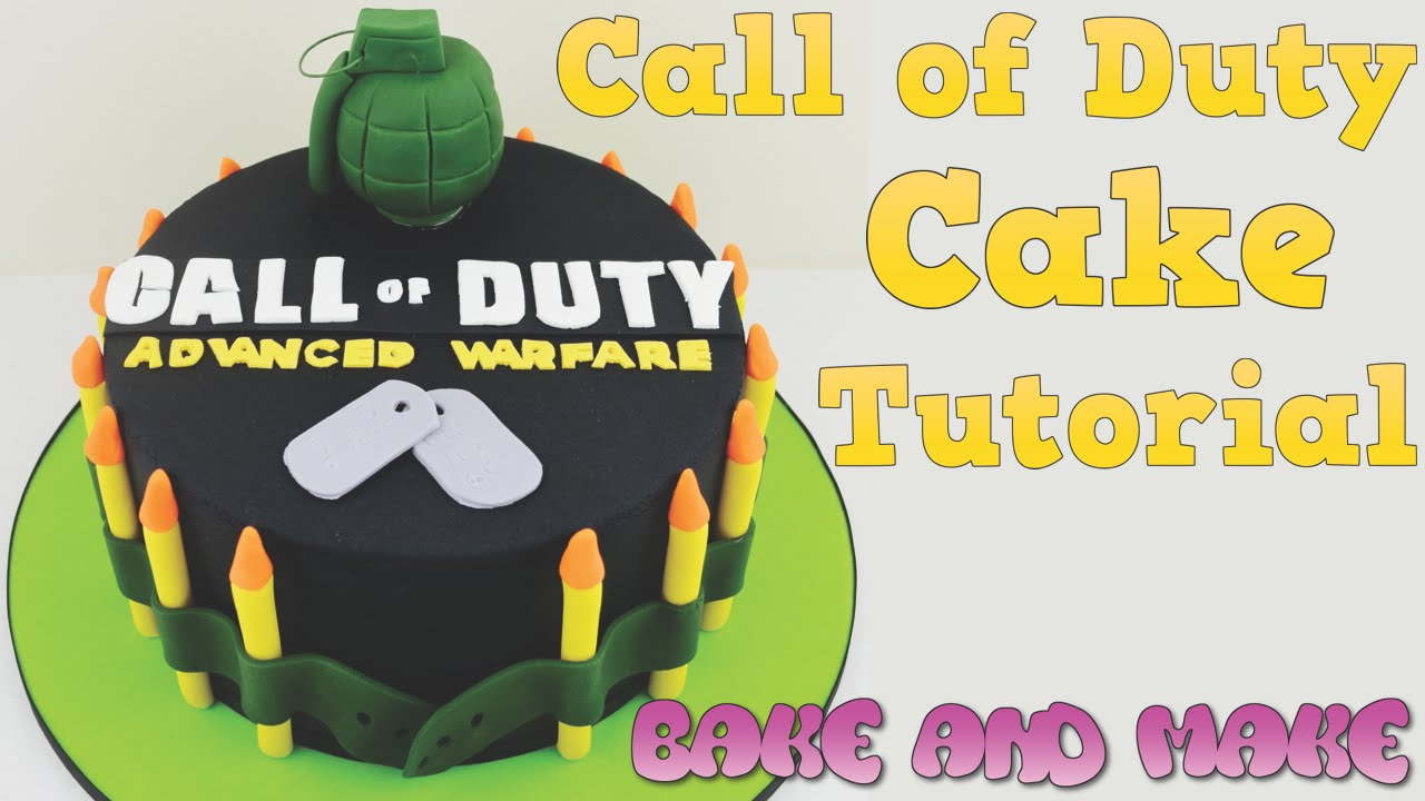 How To Make A Call Of Duty Cake Tutorial Bake And Make With Angela