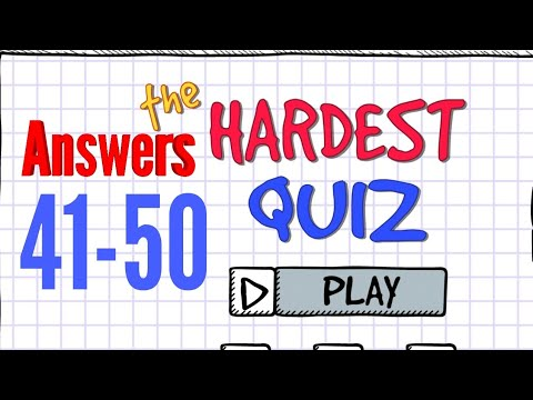The Hardest Quiz Answers 41 42 44 43 45 46 47 48 49 50 Levels Android iOS Walkthrough