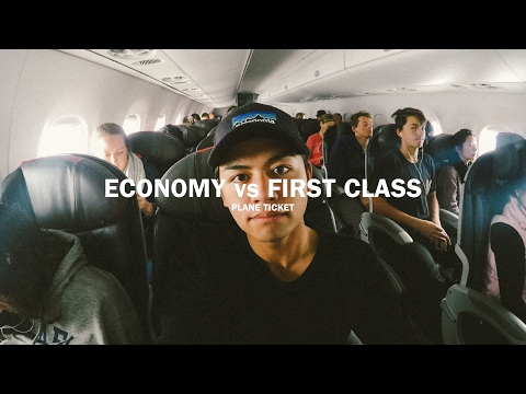 ECONOMY VS FIRST CLASS PLANE TICKET