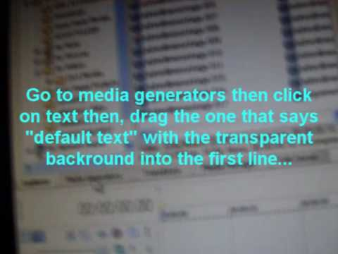 sony vegas how to add text over video