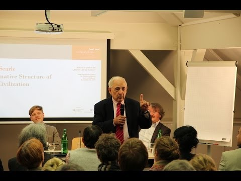 John Searle - The Normative Structure of Human Civilization