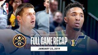 Full Game Recap: Nuggets vs Jazz   Jokic & Mitchell Show Out In Utah