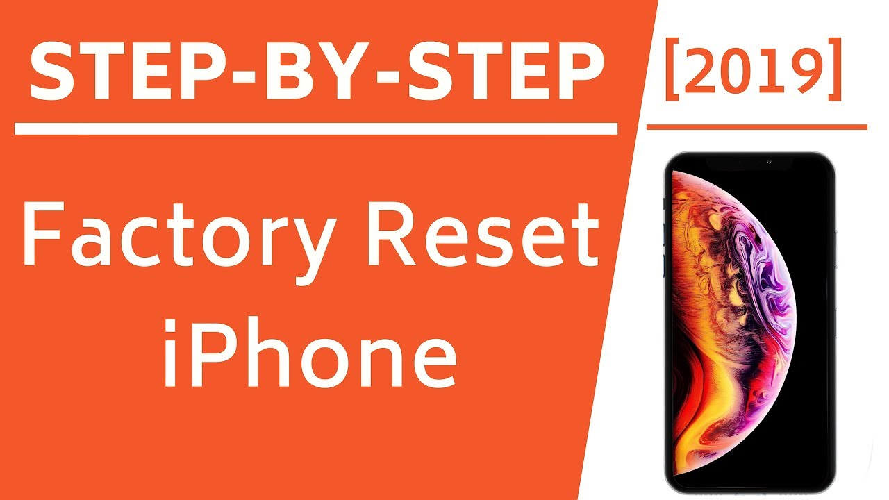 how to factory reset iphone XS  For GSM
