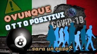 8 NUOVI POSITIVI per ogni regione o città italiana: sara' un CASO?