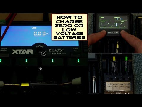 How To Charge 0 (Zero) Or Low Voltage Batteries In A Smart Charger