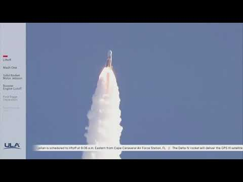 Delta IV Rocket Launches From Cape Canaveral